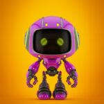 Cute violet bot VIII