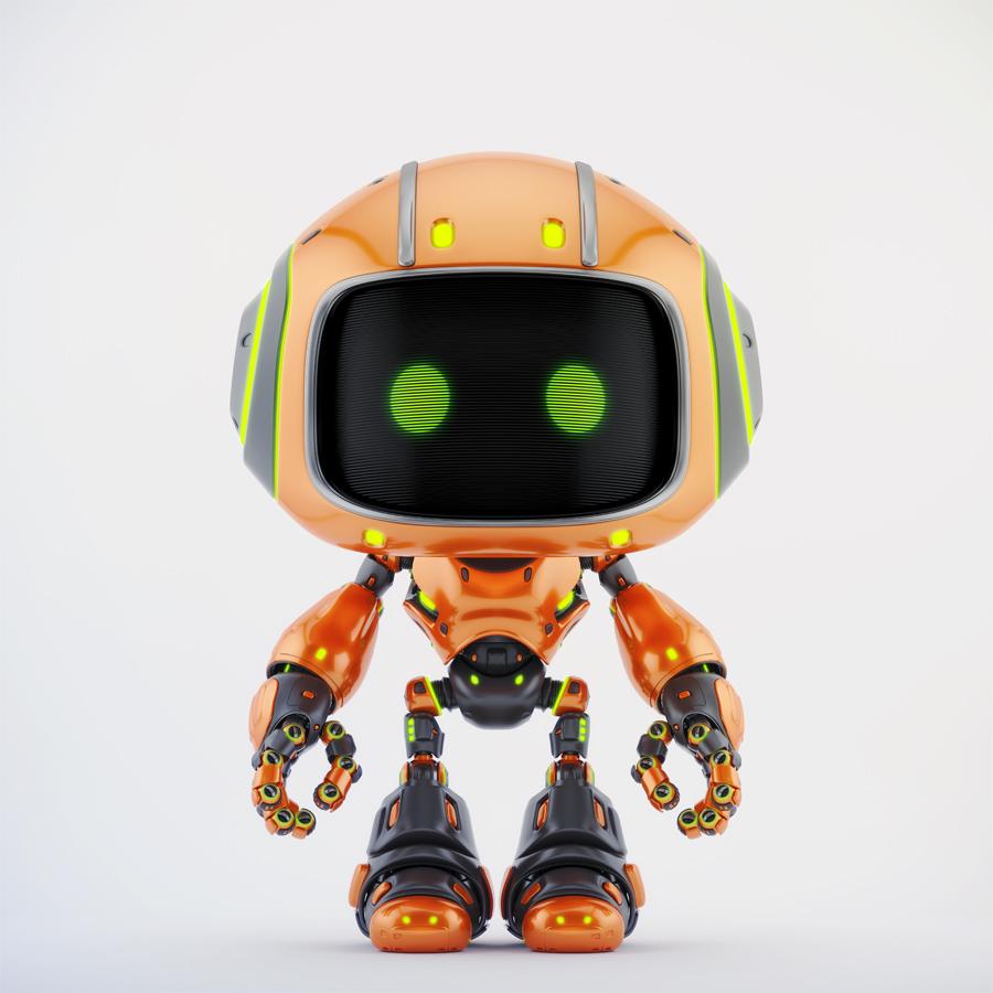 cute orange bot