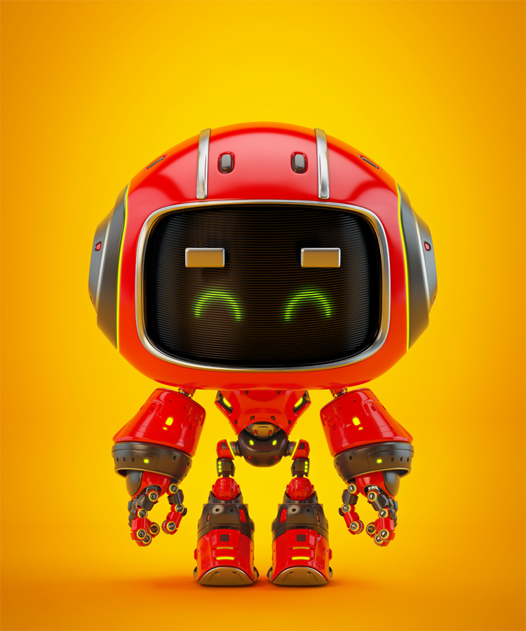 Cute red robot eyebrows