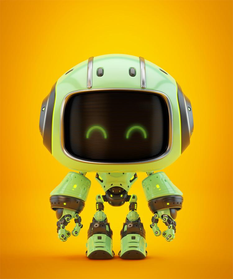 Cute green bot