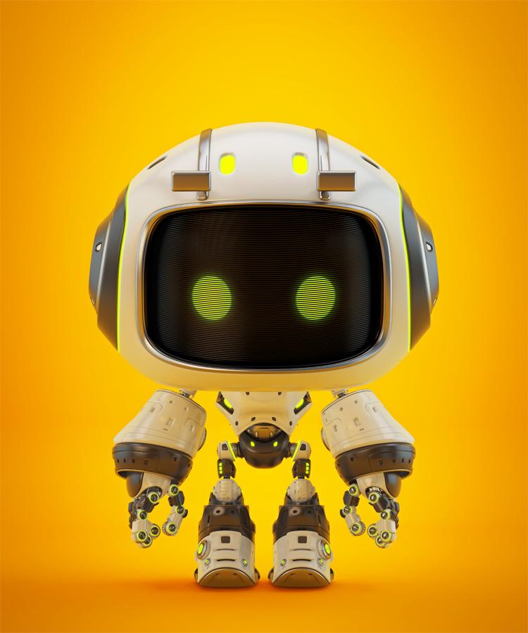 Cute small white bot