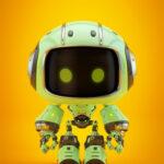 Cute green bot II