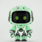 Cute turquoise bot