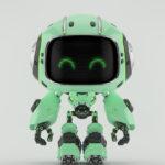Cute turquoise bot II