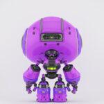 Cute violet bot back