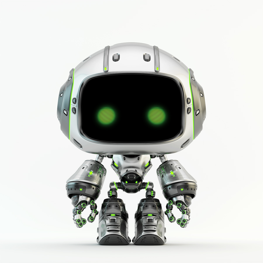 Cute silver bot