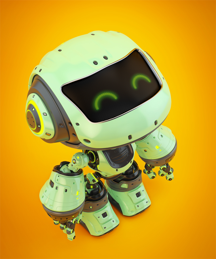 green robot mocco, upper view